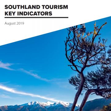 Southland Key Tourism Indicators - August 2019