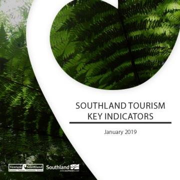 Southland Tourism Key Indicators - Jan 2019